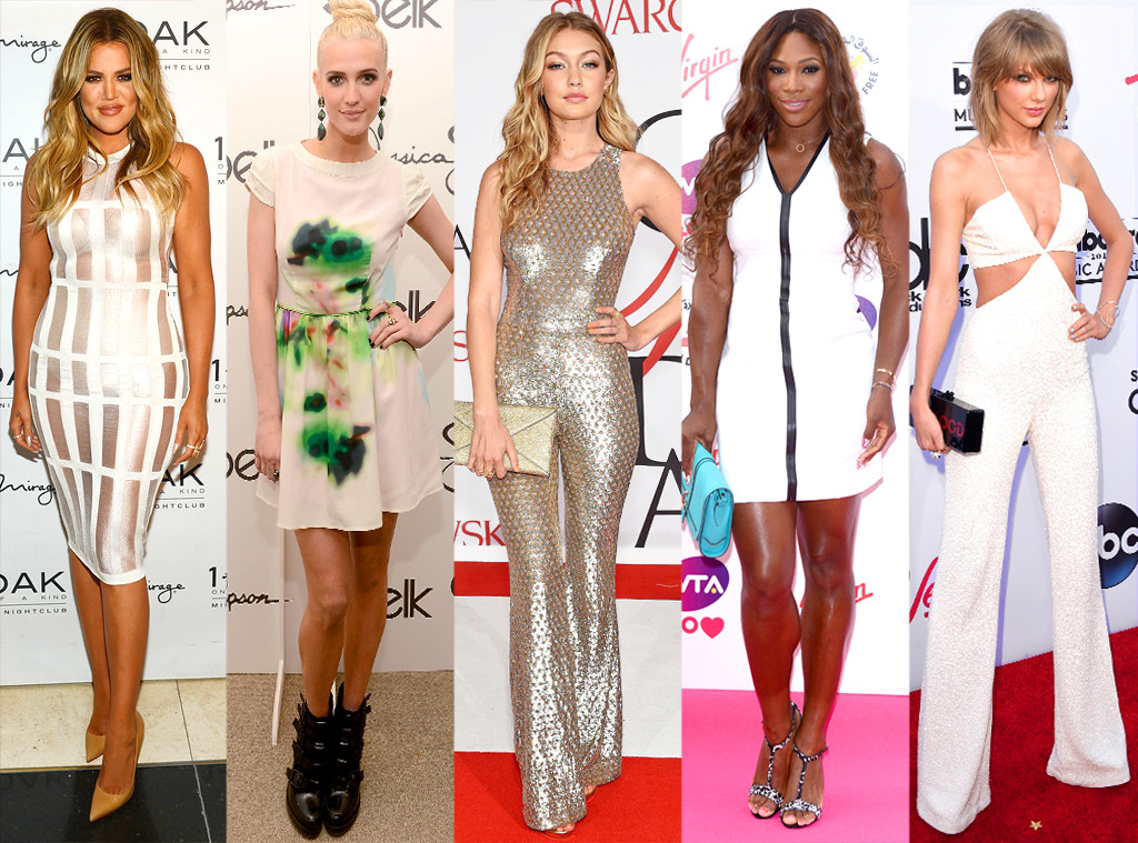 Khloe Kardashian, Ashlee Simpson, Gigi Hadid, Serena Williams, Taylor Swift