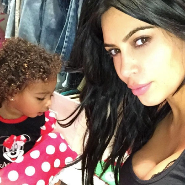 North West, Kim Kardashian West, Instagram, Curly Hair