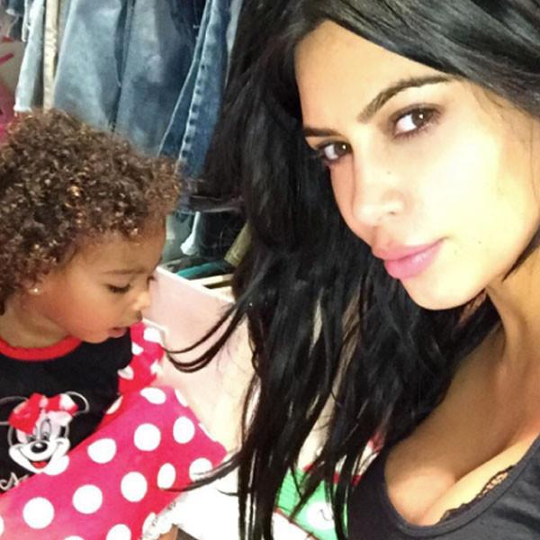 North West, Kim Kardashian West, Instagram, Curly Hair