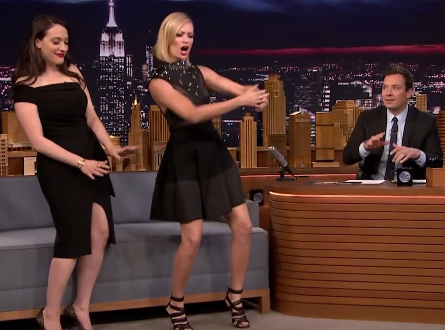 Beth Behrs, Kat Dennings, Tonight Show