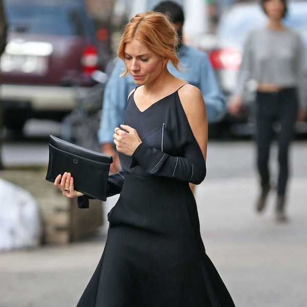 Lbd upgrade from sienna miller 39 s street style e news Sienna miller fashion style tumblr
