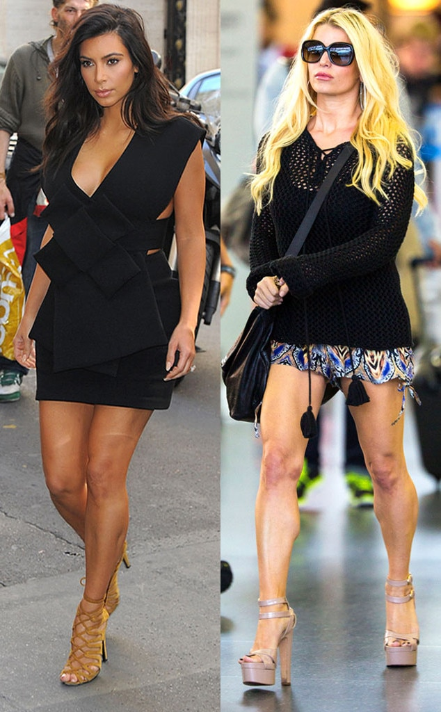 Kim Kardashian, Jessica Simpson, Celeb body parts