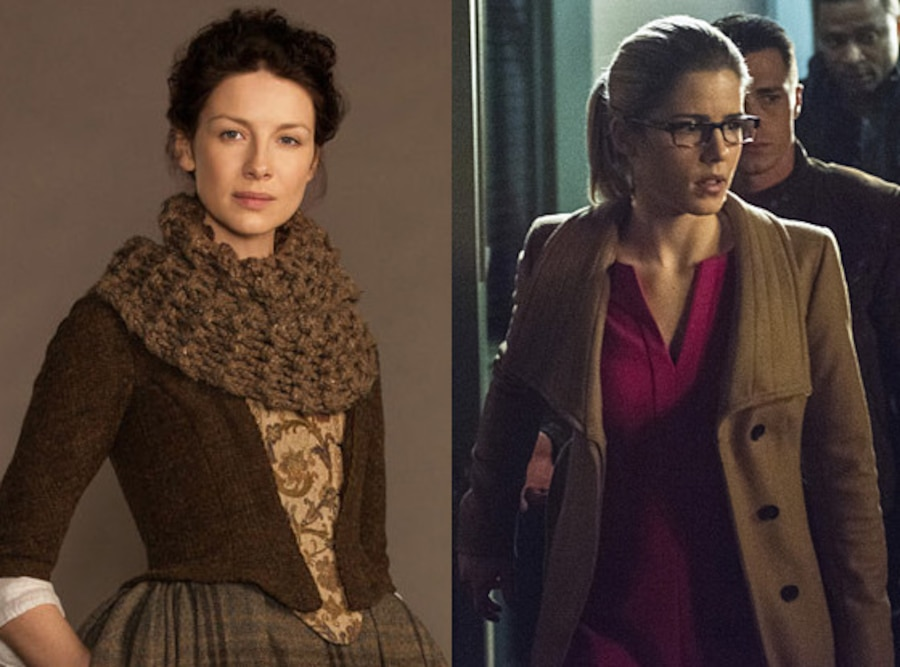 Outlander, Caitriona Balfe, Arrow, Emily Bett Rickards