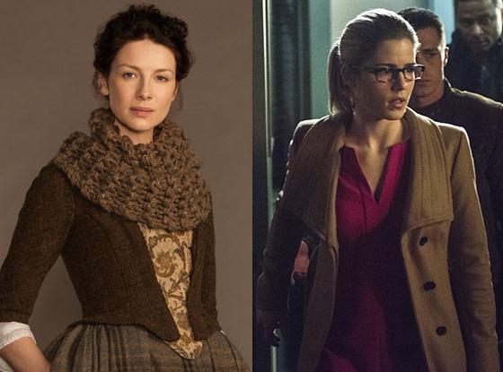 Outlander, Caitriona Balfe, Arrow, Emily Bett Rickards