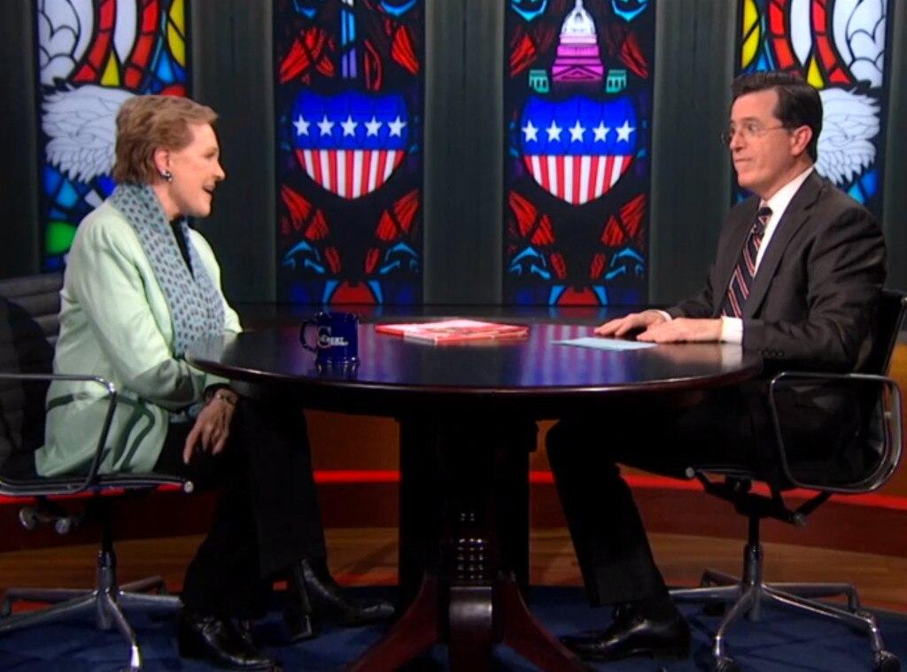 Julie Andrews, Stephen Colbert Interview