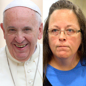 Kim Davis, Pope Francis