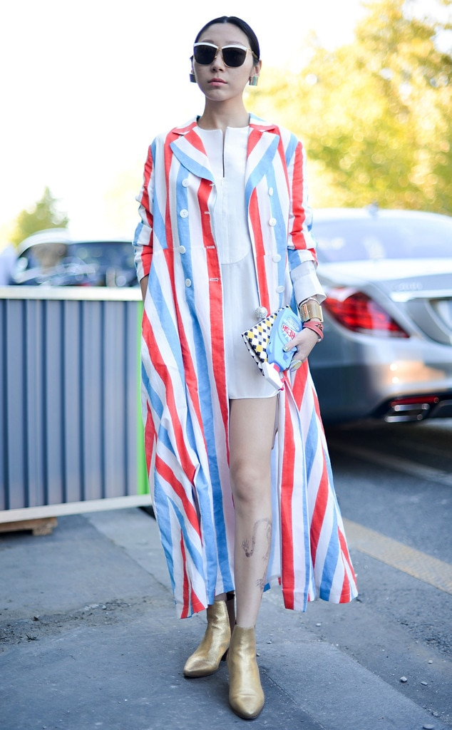 Nice Striped From Street Style At Paris Fashion Week Spring 2016 E News