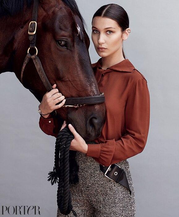 Bella Hadid, Mr. Porter, Equestrian