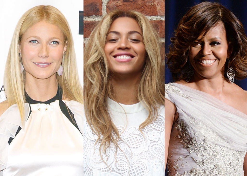 Gwyneth Paltrow, Beyonce Knowles, Michelle Obama