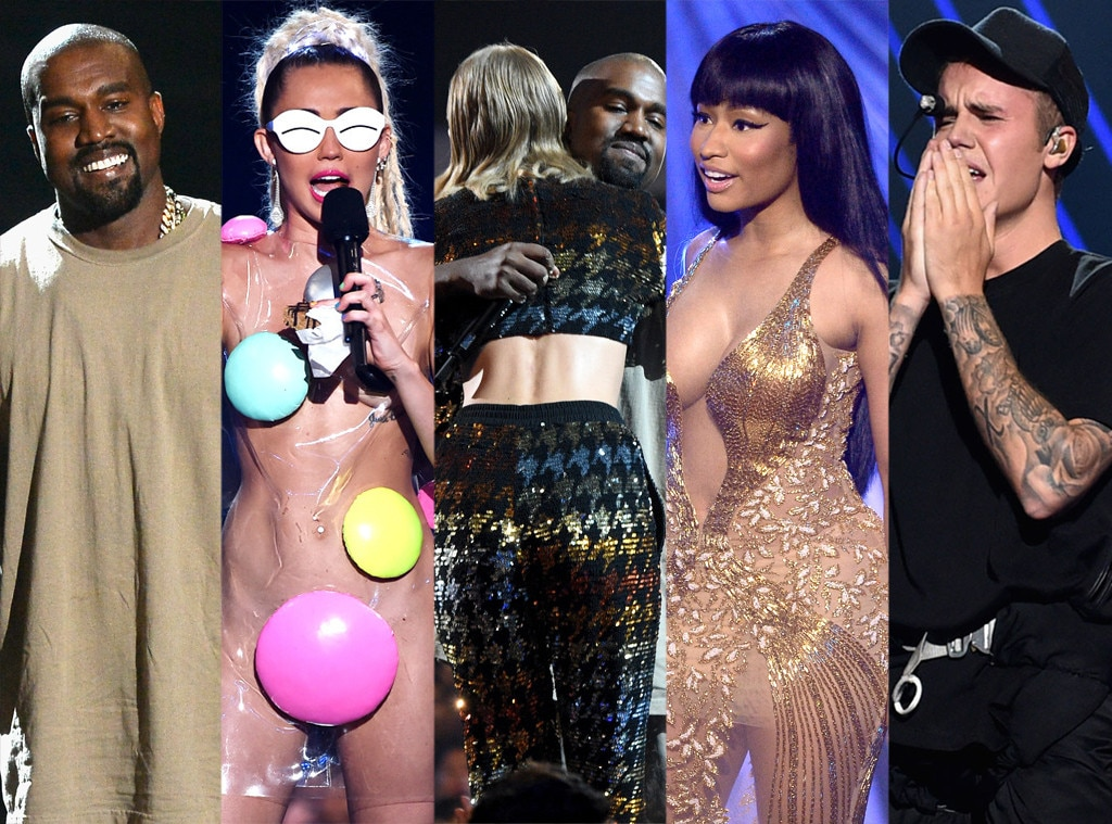 Kanye West, Miley Cyrus, Taylor Swift, Justin Bieber, Nicki Minaj, 2015 MTV Video Music Awards, VMA