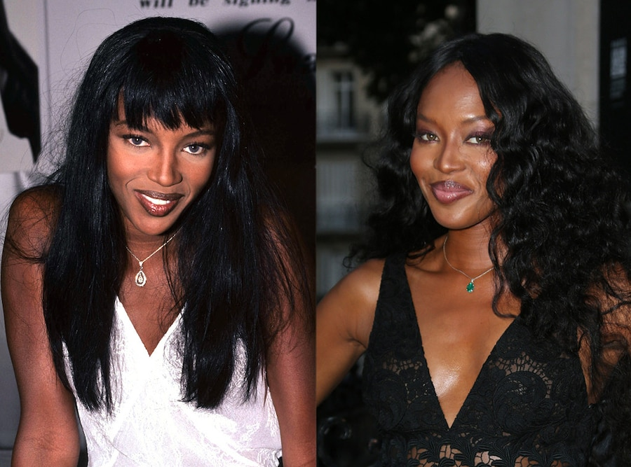 Models, Then and Now, Naomi Campbell, 1994, 2015