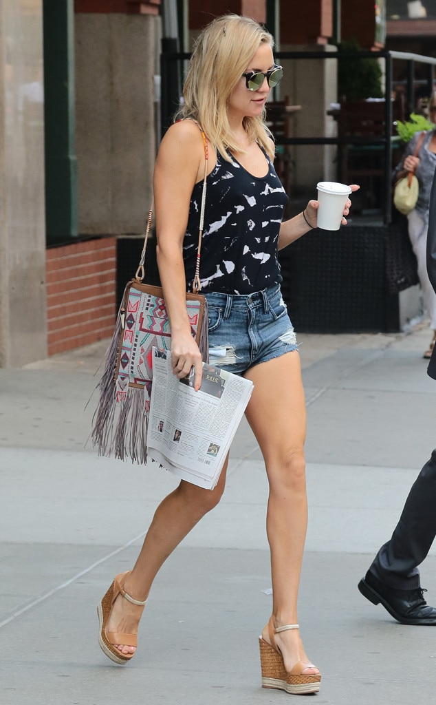 Boho On The Go From Kate Hudson 39 S Street Style E News