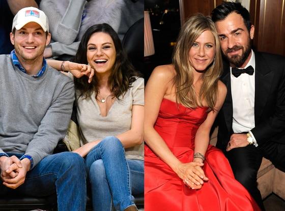 Mila Kunis, Ashton Kutcher, Justin Theroux, Jennifer Aniston
