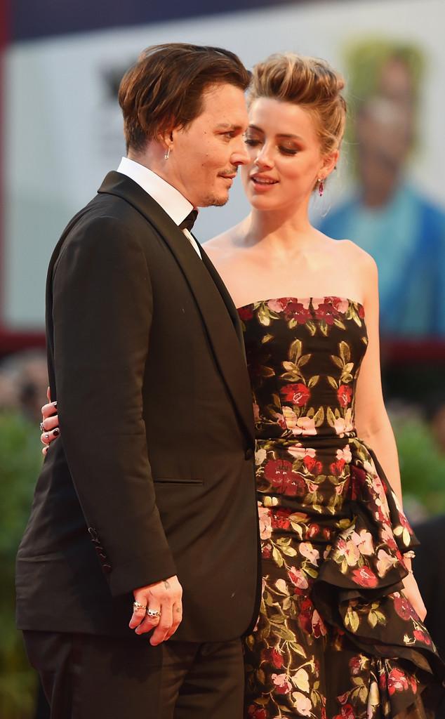 Amber Heard, Johnny Depp, PDA, Venice Film Festival
