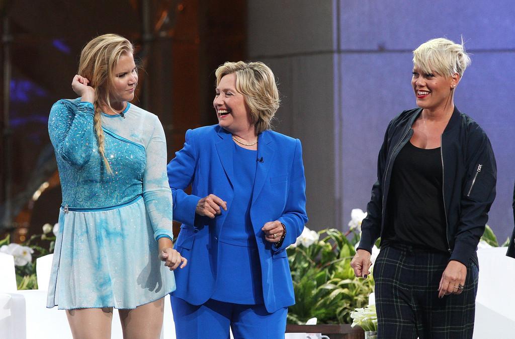 Hillary Clinton, Amy Schumer, Pink, The Ellen DeGeneres Show