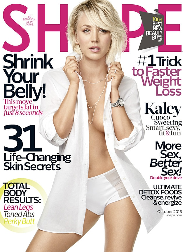 Kaley Cuoco, Shape Magazine, Cover