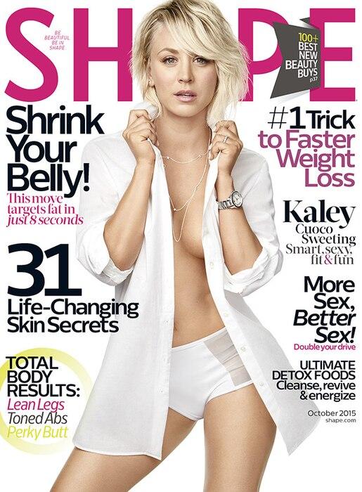 Kaley Cuoco, Shape Magazine, Cover