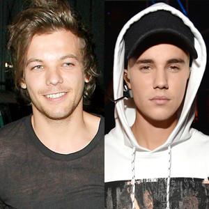 Louis Tomlinson, Justin Bieber