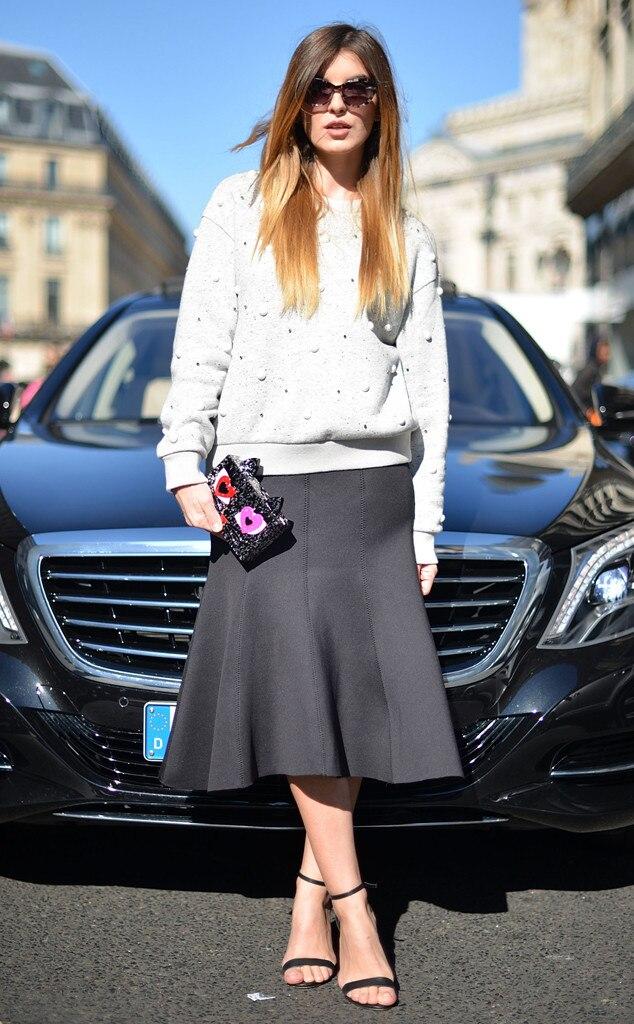 Kristi Gogsadze From Street Style At Paris Fashion Week