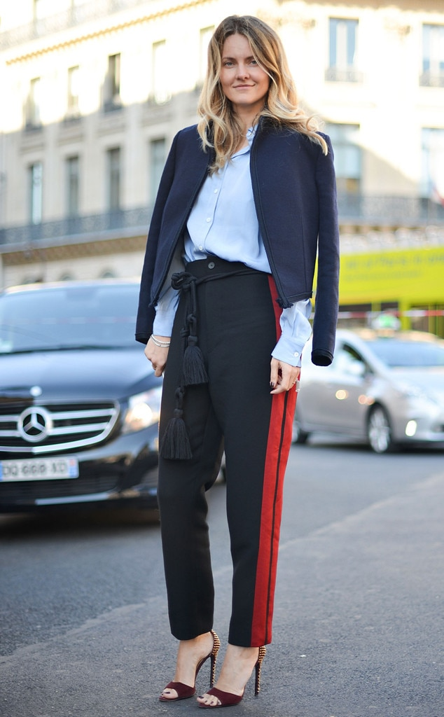 Red Line From Street Style At Paris Fashion Week Spring