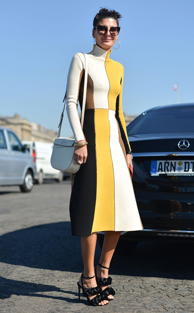 Giovanna Battaglia From Street Style At Paris Fashion Week