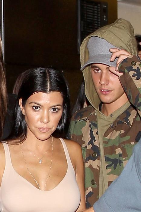 Justin Bieber, Kourtney Kardashian