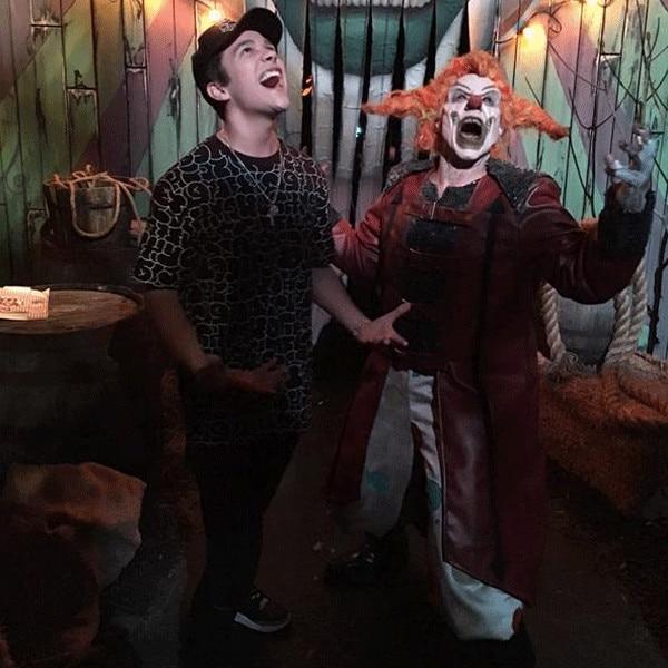 Austin mahone from stars celebrate halloween 2015 e news austin mahone halloween 2015 voltagebd Images