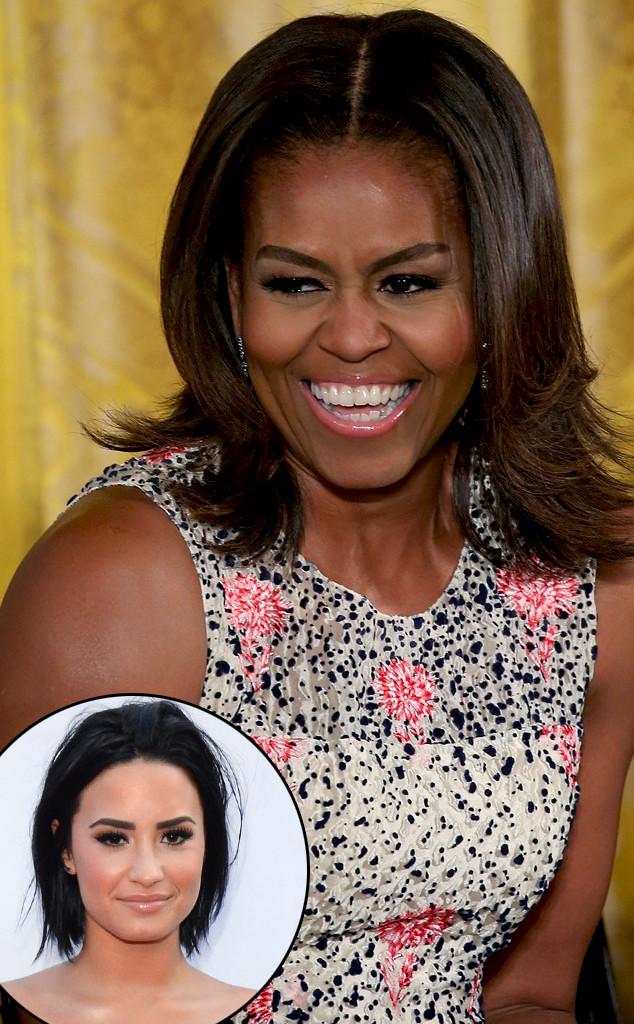 Michelle Obama, Demi Lovato
