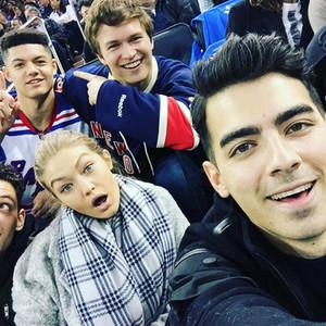 Ansel Elgot, Gigi Hadid, Joe Jonas, New York Rangers, Instagram