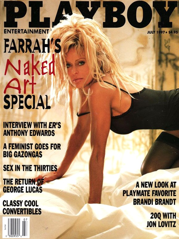 farrah fawcett from stars who posed nude for playboy e news