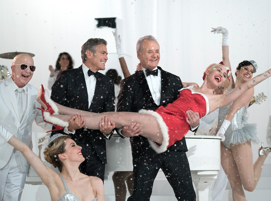 Bill Murray, A Very Murray Christmas, Miley Cyrus