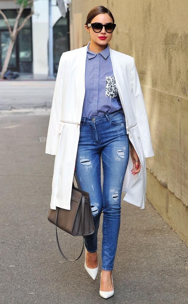 Business Chic From Olivia Culpo 39 S Street Style E News