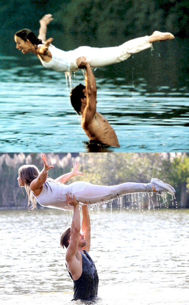 Bindi irwin and derek hough recreate dirty dancing s iconic water lift