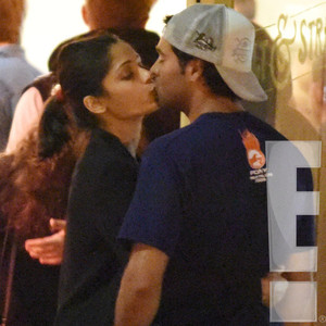 Freida Pinto, Mystery Man, PDA, Kiss, Exclusive