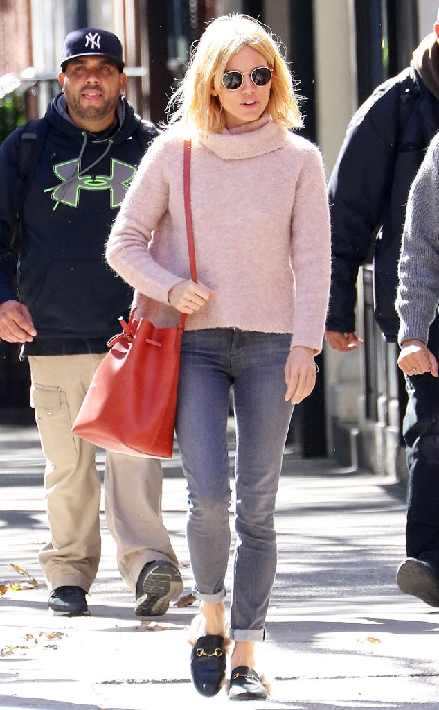 Sweater Weather From Sienna Miller 39 S Street Style E News