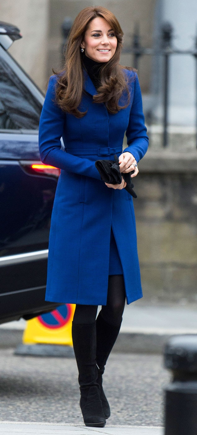 Kate Middleton Looks Regal In A Royal Blue Coatdress