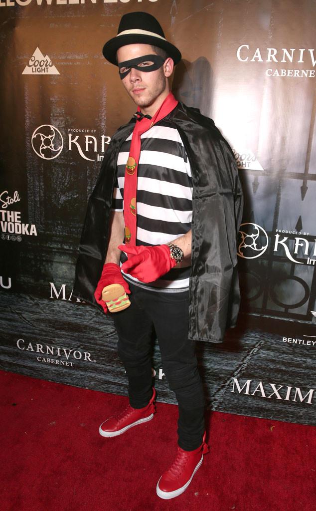 Nick Jonas' Hamburglar Costume at the 2015 Maxim Halloween Party ...