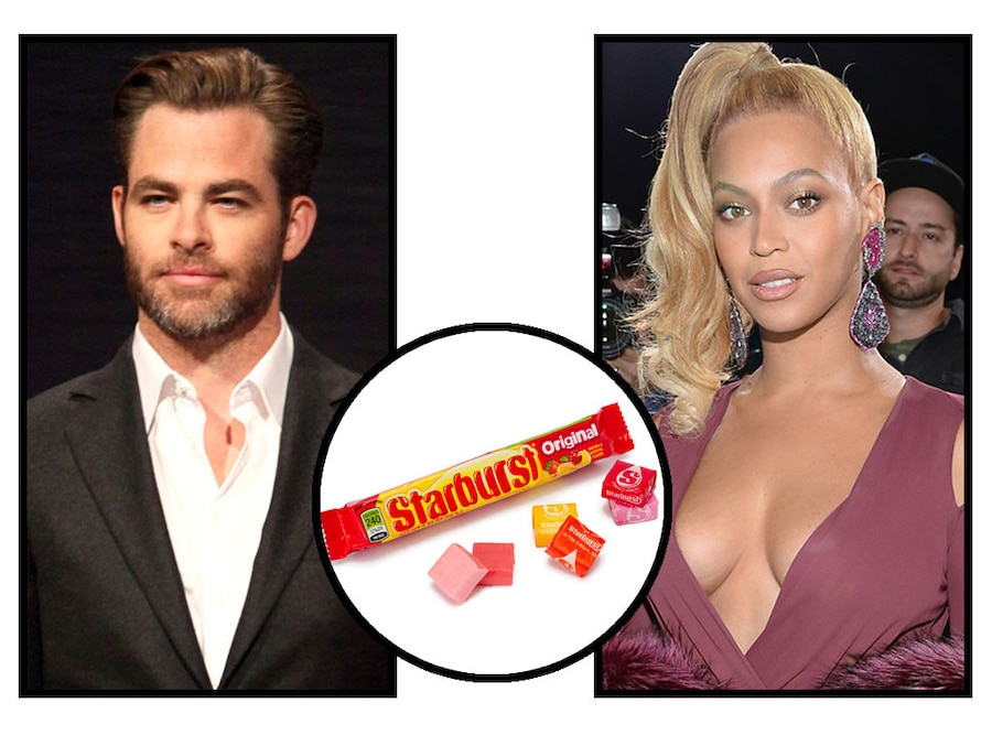 Celebs and Candy, Chris Pine, Beyonce, Starburst