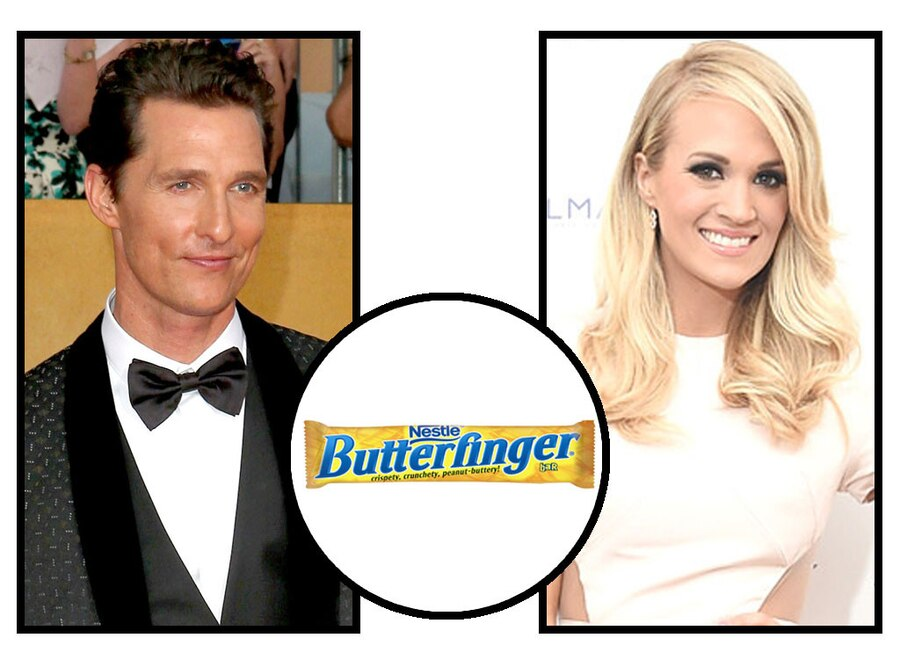 Celebs and Candy, Matthew McConaughey, Carrie Underwood, Butterfinger