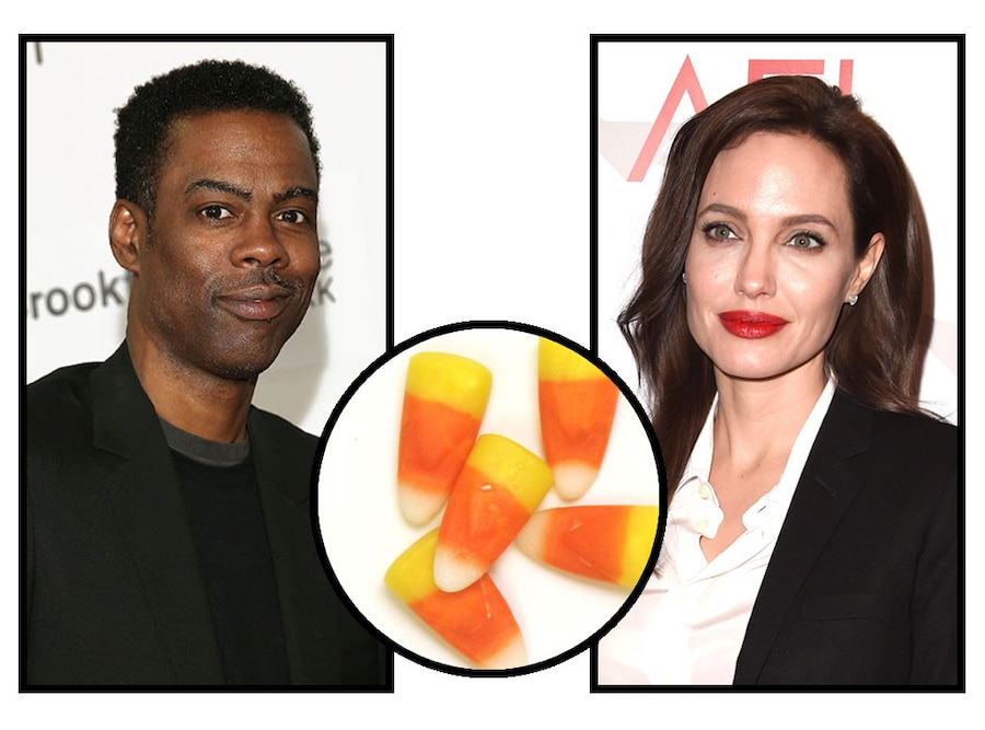 Celebs and Candy, Chris Rock, Angelina Jolie, Candy Corn