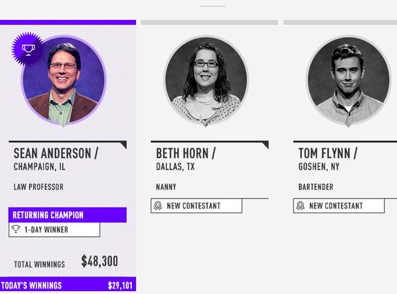 Tom Flynn, Jeopardy contestant