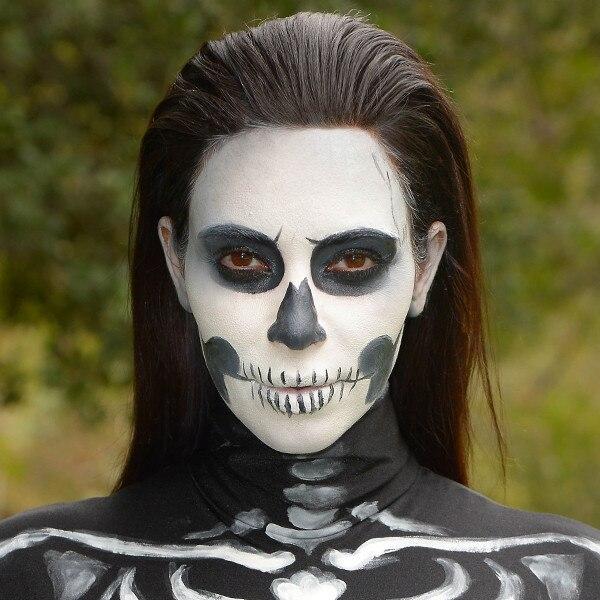 diy costume watch this y skeleton makeup tutorial
