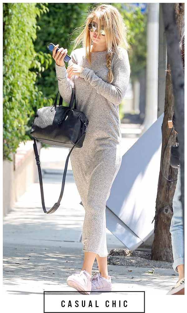 ESC, 5 Days 5 Ways Grey Outfit Gigi Hadid, Grey