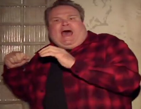 Watch eric stonestreet survive a haunted house on the for Eric stonestreet house