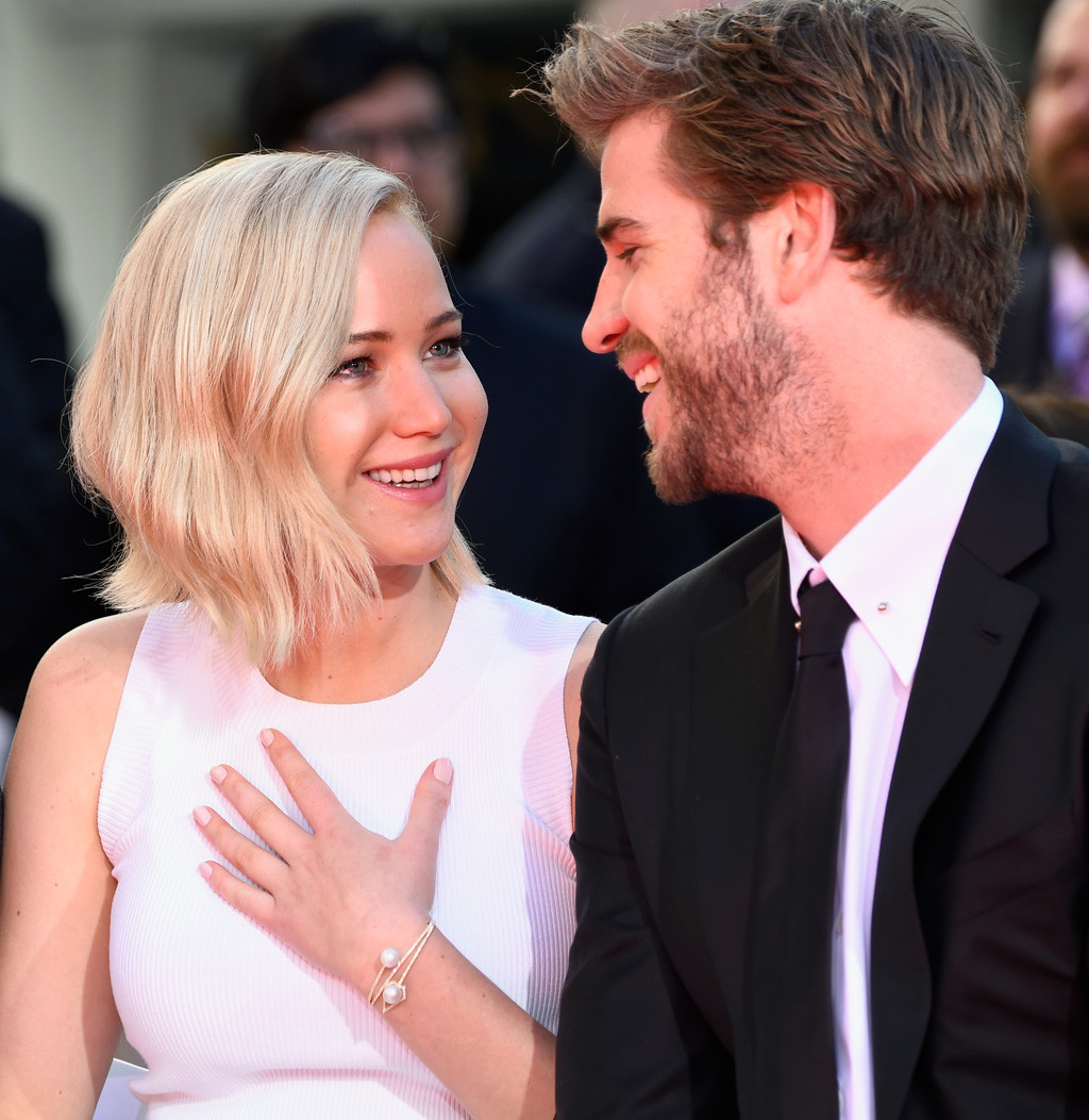 Jennifer Lawrence, Liam Hemsworth, Hand and Footprint Ceremony