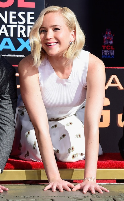 Jennifer Lawrence, Hand and Footprint Ceremony