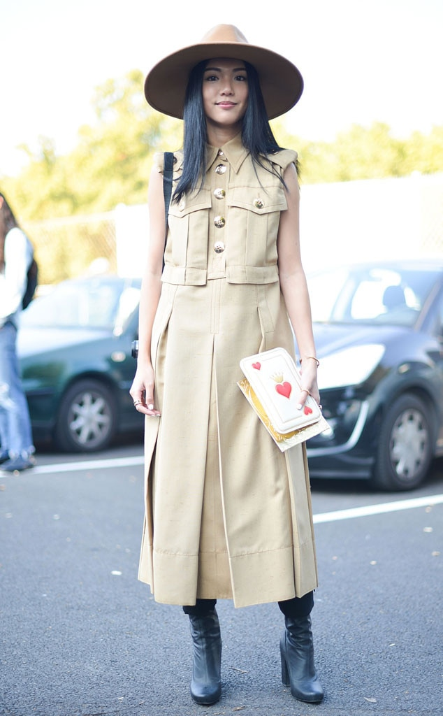 Yoyo Cao From Street Style At Paris Fashion Week Spring