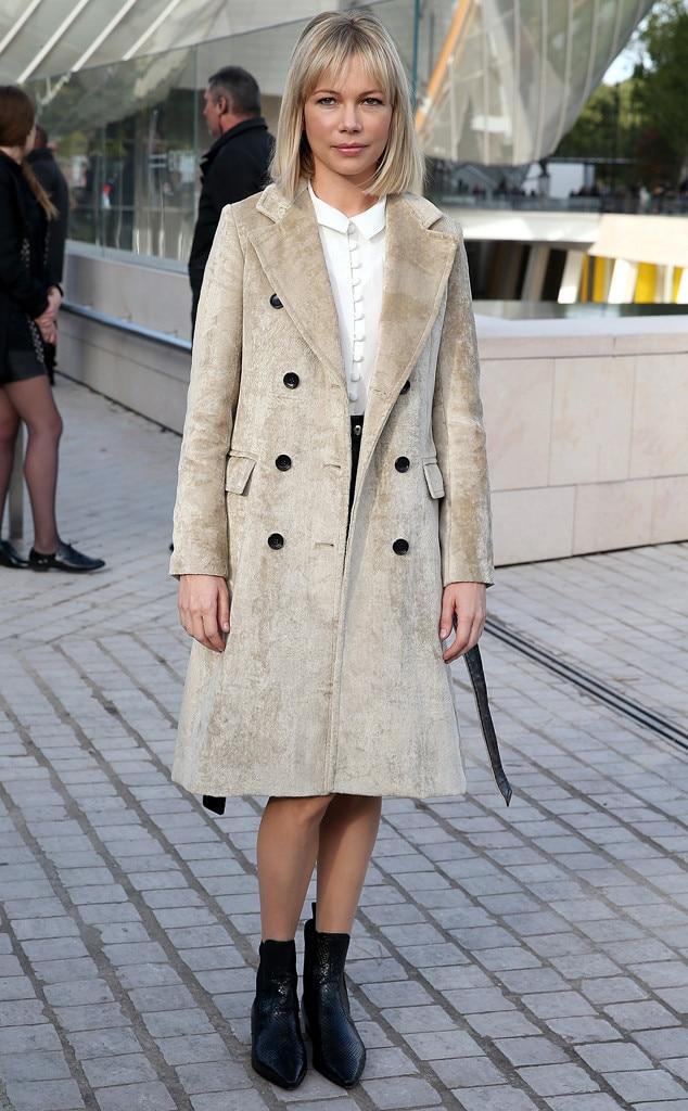 Stars at Paris Fashion Week, Michelle Williams
