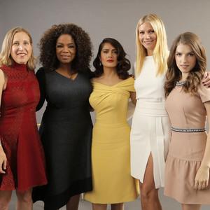 Susan Wojcicki, Oprah Winfrey, Salma Hayek Pinault, Gwyneth Paltrow, Anna Kendrick, Variety's Power Of Women Luncheon