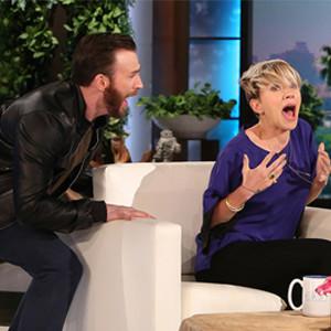 Scarlett Johansson, Chris Evans, The Ellen Show scare